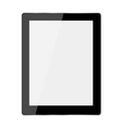 Computer tablet on white background vector image