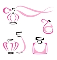 Perfume containers vector image vector image