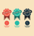 3 retro labels and icons vector image