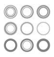 Set of sunbusrt Sparkles elements for your design vector image vector image