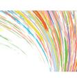 color streak vector image