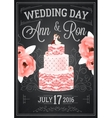 Wedding Chalkboard Poster vector image