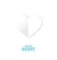 Heart - paper white vector image