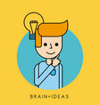 character idea brain innovation concept vector image