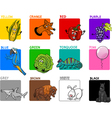 main colors cartoon collection vector image