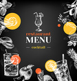 Restaurant chalkboard menu Hand drawn sketch vector image