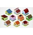 Set Isometric houses vector image