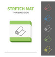 simple line stroked stretch exercise mat vector image