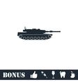 Tank icon flat vector image