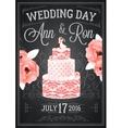 Wedding Chalkboard Poster vector image