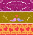 Valentine day banners vector image vector image