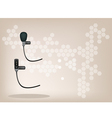 Wireless Microphone Brown Background vector image