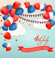 Retro Holiday American background with colorful vector image vector image