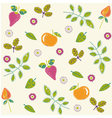fruits and berries background vector image
