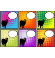 this sheep has something to say vector image