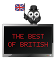 The Best of British vector image