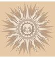 heraldic sun big vector image