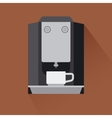 Coffee machine icon with shadow vector image