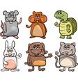 cute pets set cartoon vector image