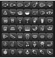food icons black SQUARE vector image