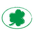 Green Shamrock Grunge Stamp Style 1 vector image