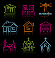 line architectural icons vector image