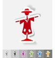 realistic design element scarecrow vector image