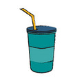 soda disposable cup icon image vector image