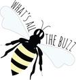 The Buzz vector image