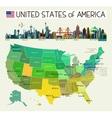 USA Travel Map vector image