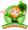 Leprechaun Greeting vector image vector image