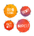 different thank you tags set banners collection vector image
