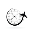 clock antique with airplane vector image