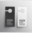 door hanger mockup design vector image