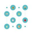 flat icons pitaya nectarine mango and other vector image