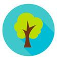 Garden Tree Circle Icon vector image