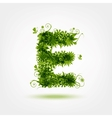Green eco letter E for your design vector image
