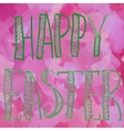 Happy Easter Green on Pink Print vector image
