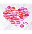 Heart lipstick kiss vector image