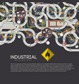 industrial pipe system background vector image