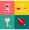 Love Measure and Medicine Heart Checkup Set vector image