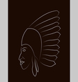 Native American Portrait vector image