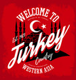turkey emblem or sign with muslim mosque vector image