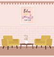 two chair with table in living room comfort vector image