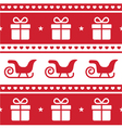 Christmas card seamless pattern vector image
