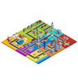 City Map Constructor Colorful Isometric Image vector image