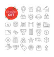 simple icons collection web and mobile app vector image vector image