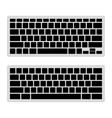Computer Keyboard Blank Template Set vector image vector image