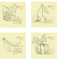 calendar for 2011 with fruit vector image