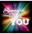 summer begin with you vector image